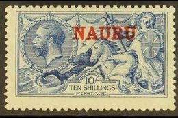 1916  10s Pale Blue De La Rue Seahorse, SG 23, Fine Mint. Fresh! For More Images, Please Visit Http://www.sandafayre.com - Nauru