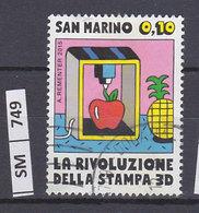 SAN MARINO  2015Rivoluzione Della Stampa 0,10 Usato - San Marino