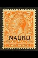 1923  2d Orange (Die II), SG 5, Never Hinged Mint. For More Images, Please Visit Http://www.sandafayre.com/itemdetails.a - Nauru