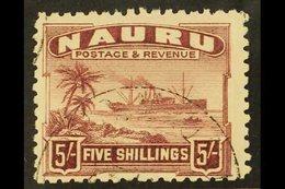 1924-48  5s Claret On Greyish Paper, SG 38A, Fine Cds Used For More Images, Please Visit Http://www.sandafayre.com/itemd - Nauru