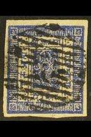 1881  White Wove Paper, Imperf, 1a Deep Ultramarine (Hellrigl 4a, SG 4, Scott 4), Fine Used With 4 Good Margins. For Mor - Nepal