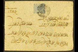 1902  (November) Cover From Gahawa (Birganj) To Kathmandu Bearing The Scarce 1a Blue Imperf On European White Wove Paper - Nepal