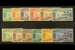 FRENCH: 1938  Gold Currency Complete Set, SG F53/64, Fine Mint. (12) For More Images, Please Visit Http://www.sandafayre - New Hebrides