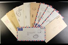 OFFICIAL MAIL  Addressed To Various Officials And The Bishop Of The New Hebrides, We See Range Of Internal Official Mail - New Hebrides
