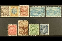 1898 PICTORIAL  ½d To Both 2½d, 4d To 8d, SG 246/250, 252/255, Fine Mint. (9) For More Images, Please Visit Http://www.s - New Zealand