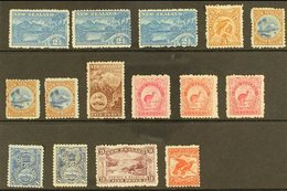 1902 PICTORIAL ISSUE  Lovely Bright Mint Selection With 2½d Blue Shades And Wmk Reversed, 3d Yellow Brown, 4d Deep Blue - New Zealand