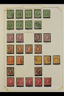 1909-16 KEVII USED COLLECTION  On Album Pages, Showing Various Perfs, Paper And Shades For These Issues Incl. Perf 14 X  - New Zealand