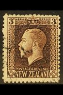 1915-30  3d Chocolate, Perf 14 X 13½, No Watermark, SG 433a, Very Fine Used. For More Images, Please Visit Http://www.sa - New Zealand