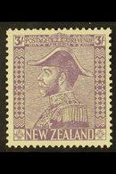1926  3s Pale Mauve, Admiral On Cowan Paper, SG 470, Superb Mint Og. For More Images, Please Visit Http://www.sandafayre - New Zealand