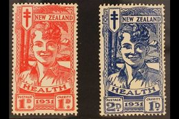"1931  Health ""Smiling Boy"" Set, SG 546/47, Very Fine Mint. (2 Stamps) For More Images, Please Visit Http://www.sandafayr - New Zealand"