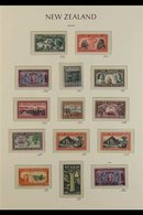 1937-52 KGVI MINT COLLECTION  Presented On Hingeless Pages, ALL DIFFERENT, Includes 1938-44 & 1947-52 Definitive Sets, 1 - New Zealand