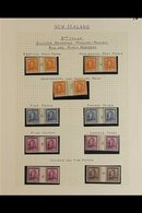1945-51 KGVI COUNTER COILS & COIL JOINED  COLLECTION.  An Attractive, ALL DIFFERENT Fine Mint Collection Of Counter Coil - New Zealand