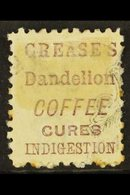 """ADVERTISING STAMPS  1882 -1900 6d Brown, Perf 10, SG 224bf, With Brown Purple Advert For """"Creases"""", Mint With A Couple O - New Zealand"""