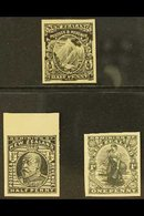 IMPERF PROOFS  1898 ½d Mount Cook (as SG 246 Etc), 1909 ½d KEVII (as SG 387) And 1909 1d Universal Postage (as SG 405 Et - New Zealand