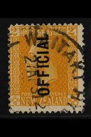 """OFFICIALS  1931 2d Yellow, Perf 14, Variety """"NO STOP"""" After Official, SG 98a, Fine Used For More Images, Please Visit Ht - New Zealand"""