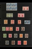 """1902-67 VERY FINE MINT COLLECTION  On Stock Pages & Includes 1902 2½d Block Of 4 With """"no Stop After Peni"""" Variety (SG 2 - Niue"""