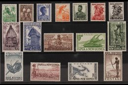 1952-58  Definitives Complete Set, SG 1/16, Never Hinged Mint. (16 Stamps) For More Images, Please Visit Http://www.sand - Papua New Guinea