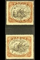 1910-11  Official 2s.6d Black And Brown, Both Types, SG O36/37, Fine With Full Port Moresby Cds. (2 Stamps) For More Ima - Papua New Guinea
