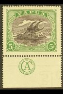 """1916  5s Black And Deep Green, SG 104, Superb Mint With Marginal """"Commonwealth Of Australia"""" Monogram. For More Images,  - Papua New Guinea"""