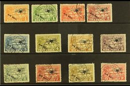 """1931  Air Overprinted """"Native Village"""" Set To 10s, SG 137/48, Fine Cds Used, 2s Value With Hinge Thin (12 Stamps) For Mo - Papua New Guinea"""