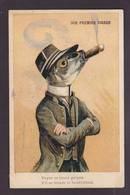 CPA Poisson Position Humaine Circulé Cigare - Vissen & Schaaldieren