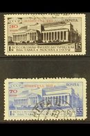 1933  Lenningrad Philatelic Exhibition Pair, SG 606/7, Very Fine Used.(2 Stamps) For More Images, Please Visit Http://ww - Russia & USSR
