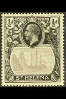 1922-37  ½d Grey & Black, Wmk Script CA, TORN FLAG VARIETY, SG 97b, Fine Mint. For More Images, Please Visit Http://www. - Saint Helena Island