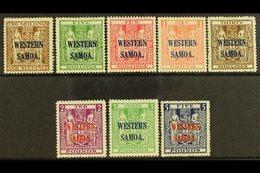 "1945 - 1953  2s 6d Deep Brown To £5 Indigo Blue Postal Fiscals On ""Wiggins Teape"" Paper Wmk Multiple NZ And Star, SG 207 - Samoa"