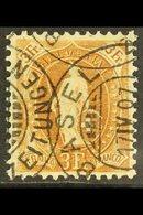 1905-07  3f Bistre-brown Standing Helvetia Perf 11½x12 (SG 213, Michel 80 D, Zumstein 92C), Very Fine Used With Fully Da - Switzerland