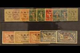 1920  Complete Syrian Currency Surcharge Set, SG 31/44, Very Fine Mint. Scarce Set. (14 Stamps) For More Images, Please  - Syria