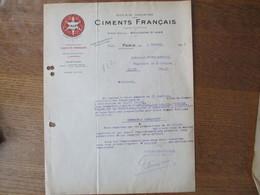 BOULOGNE SUR MER CIMENTS FRANCAIS PORTLAND DEMARLE LONQUETY COURRIER DU 2 FEVRIER 1926 - France