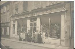 """Carte Photo Ancienne - Belle Devanture - """"A La Pensée"""" - Fabrique De Couronnes -  Fleurs - - Shops"""