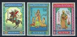 Algeria, Illuminated Manuscript, 1966, MNH VF, Complete Set Of 3 - Argelia (1962-...)