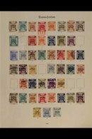 "1920 - 1927 SPLENDID COLLECTION ON ""IMPERIAL"" ALBUM PAGES.  A Mint & Used Collection On 4 SG ""Imperial"" Album Pages With - Jordanien"
