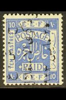 1923  10p Independence Commemoration Ovpt In Black, Reading Downwards, SG 107A, Very Fine Mint. For More Images, Please  - Jordan