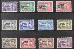 1952  KGVI Opt'd Complete Definitive Set, SG 1/12, Fine Mint (12 Stamps) For More Images, Please Visit Http://www.sandaf - Tristan Da Cunha