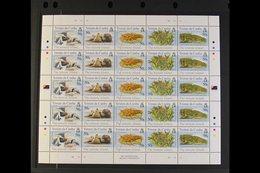 2005-2006 COMPLETE SE-TENANT SHEETLETS.  All Islands Issues As Complete Se-tenant Sheetlets Of 25, Each Sheetlet Contain - Tristan Da Cunha