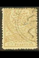 1886  25pi Pale Grey Brown, SG 112, Very Fine Used. For More Images, Please Visit Http://www.sandafayre.com/itemdetails. - Turkey