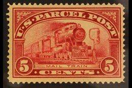 PARCEL POST  1912-13 5c Carmine-rose, Scott Q5, Never Hinged Mint. For More Images, Please Visit Http://www.sandafayre.c - United States