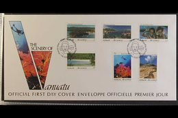1993-2013 FIRST DAY COVERS  ALL DIFFERENT COLLECTION With Complete Sets & Miniature Sheets On Illustrated, Unaddressed F - Vanuatu (1980-...)