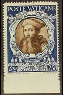 """1946  2L50 Sepia & Blue """"Reginald Pole"""" IMPERF AT BASE VARIETY, Sass 116e, Never Hinged Mint   For More Images, Please V - Unclassified"""