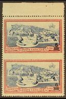 1946  6L On 3L50 Blue & Carmine Express, Vertical Pair IMPERF IN-BETWEEN VARIETY, Sass E7s, Never Hinged Mint, Small Gum - Unclassified
