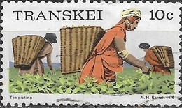TRANSKEI 1976 Transkei Scenes And Occupations - 10c - Tea Picking FU - Transkei