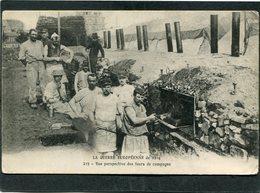 CPA - LA GUERRE EUROPEENNE De 1914 - Vue Perspective Des Fours De Campagne, Très Animé - War 1914-18