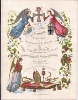 """ISEGHEM-IZEGEM""""COUVENT DES SOEURS DE MARIE-SOUVENIR DE LA BENEDICTION DE LA CHAPELLE""""LITH.DAVELUY-205/267MM - Cartes Porcelaine"""