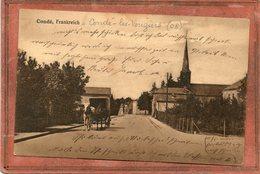 CPA - CONDé-les-VOUZIERS (08) - Carte Allemande - Aspect De L'entrée Du Bourg En 1914 / 18 - Francia