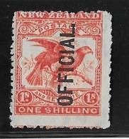 Nouvelle Zélande Service N°32 - Oiseaux - Neuf * Avec Charnière - TB - Officials