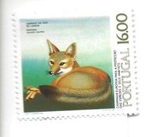 TIMBRES - STAMPS - FRANCOBOLLI - SELLOS - PORTUGAL -1980- ANIMAUX DE ZOO DE LISBONNE - FOX - TIMBRE NEUF - MNH - Felini