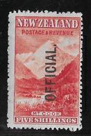 Nouvelle Zélande Service N°34 - Neuf * Avec Charnière - TB - Officials