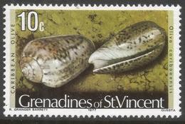 Grenadines Of St Vincent. 1974 Shells And Molluscs. 10c MH. (1977 Date Imprint) SG 42A - St.Vincent & Grenadines